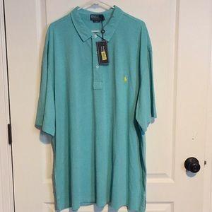 NWT Polo by Ralph Lauren SS Teal Golf Shirt 3XLT